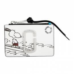 Marc Jacobs White Peanuts Edition Snoopy Top Zip Wallet M0016826