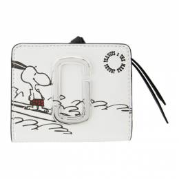 Marc Jacobs White Peanuts Edition Mini Snapshot Compact Wallet M0016825