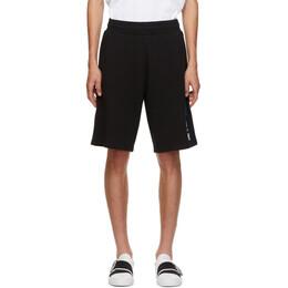 Givenchy Black Tufting Logo Shorts BM50MT30AF
