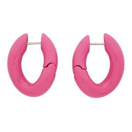 Balenciaga Pink Loop Earrings 542508-TZ16V
