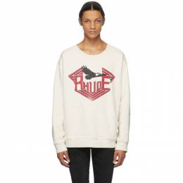 Rhude White Rhanger Kangaroo Sweatshirt 04ACR06601