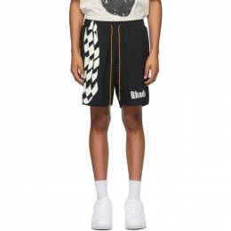 Rhude Black Track Shorts RHU06PS20041