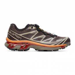 Salomon Purple and Grey XT-6 Advanced Sneakers 412636