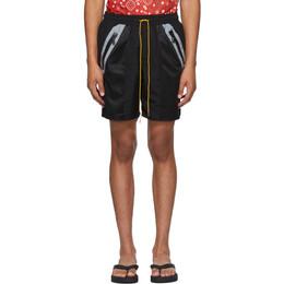 Rhude Black Nylon Shorts 04ASR02501