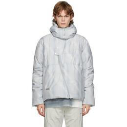 C2H4 Grey Arc Sculpture Puffer Jacket R002-007