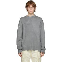 C2H4 Grey Arc Sculpture Sweater R002-027