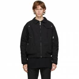 C2H4 Black Quilted Technical Jacket R002-008
