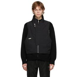 C2H4 Black Memory Layered Sweater R002-025