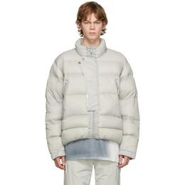 C2H4 Grey Down Sculpture Puffer Jacket R002-006