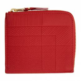 Comme Des Garcons Wallet Red Intersection Half-Zip Wallet SA3100LS