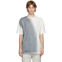 C2H4 White and Grey Sprayed T-Shirt R002-053
