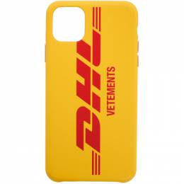Vetements Yellow DHL Express Edition Logo iPhone 11 Pro Max Case UAH21AC284