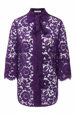 Блузка из вискозы и хлопка Valentino UB3AB18R1EC