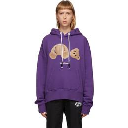 Palm Angels Purple Bear Hoodie PMBB058E20FLE0033760