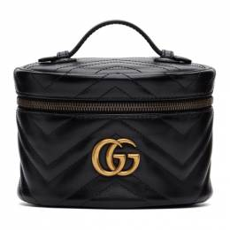 Gucci Black GG Marmont 2.0 Zip Around Cosmetic Bag 624615 DTDHT