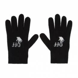 Off-White Black Felted Wool Gloves OWNE019E20KNI0011001