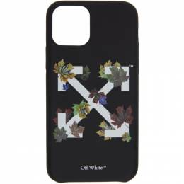 Off-White Black Leaves iPhone 11 Pro Case OWPA012E20PLA0021001