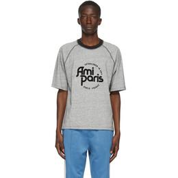 Ami Alexandre Mattiussi Grey Ami Paris T-Shirt A20HJ139.729