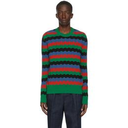 Ami Alexandre Mattiussi Multicolor Striped Crewneck Sweater A20HK005.004