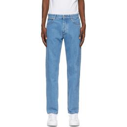 Ami Alexandre Mattiussi Blue Straight Fit Jeans A20HD002.601