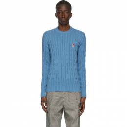 Ami Alexandre Mattiussi Blue Cable Ami De Coeur Sweater A20HK017.009