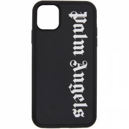 Palm Angels Black Logo iPhone 11 Case PMPA015E20PLA0061001