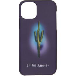 Palm Angels Purple Cactus iPhone 11 Pro Case PMPA023E20PLA0071055