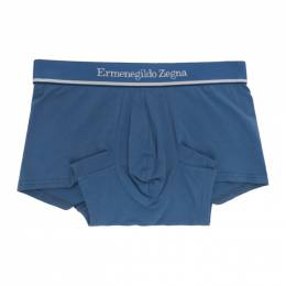 Ermenegildo Zegna Blue Cotton Boxers N3LC6095