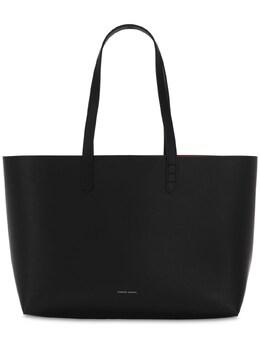 Small Leather Tote Bag Mansur Gavriel 72IXWI016-QkxBQ0svRklBTU1B0