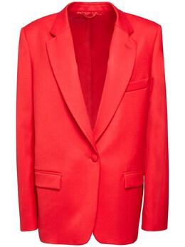 Oversize Stretch Gabardine Jacket The Attico 72IXJE024-MDEw0