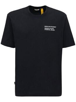 Футболка Из Джерси С Логотипом Moncler Genius 72IXCN022-OTk50
