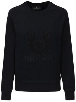 Хлопковый Свитшот С Логотипом Belstaff 72IWOR009-OTAwMDA1