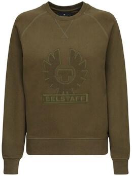 Хлопковый Свитшот С Логотипом Belstaff 72IWOR009-MjAwMzI1