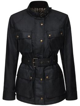 """Куртка """"trialmaster"""" Из Вощёного Хлопка Belstaff 72IWOR008-OTAwMDA1"""