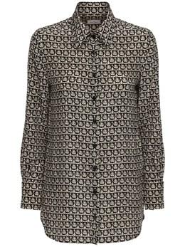 Рубашка Из Шёлкового Крепа Salvatore Ferragamo 72IW1A006-MDkw0