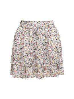 Printed Georgette Mini Skirt Ganni 72IRT7050-MTM10