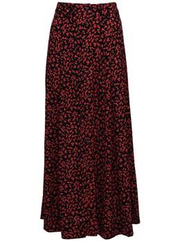 Printed Crepe Midi Skirt Ganni 72IRT7025-MDk50