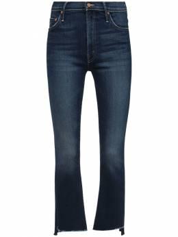 The Insider Crop Step Frayed Denim Jeans Mother 72IRT4011-SE1W0