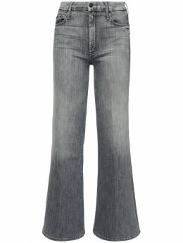 The Roller Flared Cotton Jeans Mother 72IRT4005-QU5U0