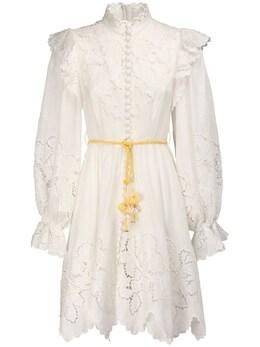 Мини-платье Из Льна Carnaby Zimmermann 72IRSQ021-SVZPUlk1