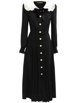 Платье Миди Из Шелкового Крепа Alessandra Rich 72IRKM045-OTAw0