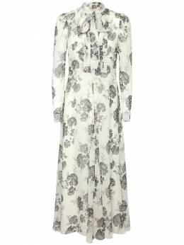 Платье Из Шелка С Принтом Red Valentino 72IP25027-MDMx0