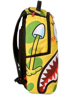 Sponge Bob Printed Canvas Backpack Sprayground 72IOEN019-WUVMTE9XL1dISVRF0