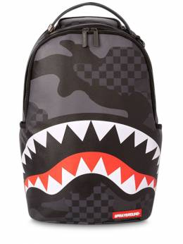 Shark Printed Faux Leather Backpack Sprayground 72IOEN003-QkxBQ0s1