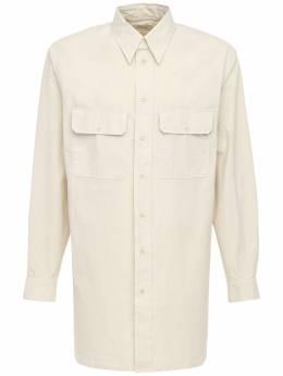 Рубашка Из Хлопка Поплин Lemaire 72IM80001-MjE40