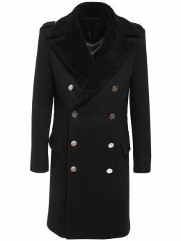 Двубортное Шерстяное Пальто Balmain 72IM09057-MFBB0