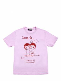 Love Is Capsule Print Jersey T-shirt Dsquared2 72ILXT006-RFEzMTA1