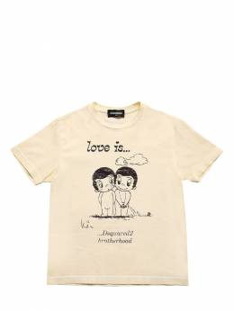 Love Is Capsule Print Jersey T-shirt Dsquared2 72ILXT004-RFEyMDY1