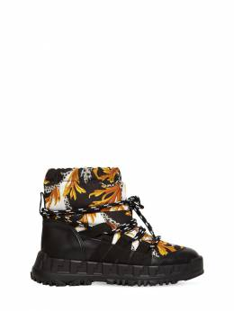 Baroque Nylon & Faux Leather Ski Boots Versace 72ILXR019-WVNKRw2