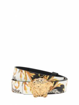 Reversible Leather Belt W/ Medusa Buckle Versace 72ILXR002-WVNKR0Y1